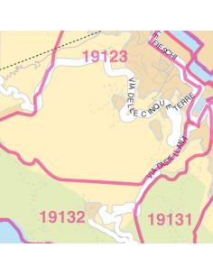 Mappa di La Spezia jpg 1:100.000 con CAP