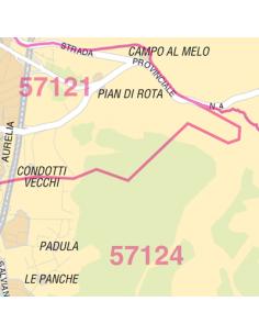 Mappa di Livorno jpg 1:100.000 con CAP