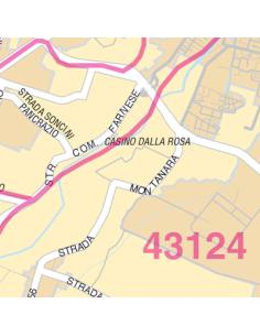Mappa di Parma jpg 1:100.000 con CAP
