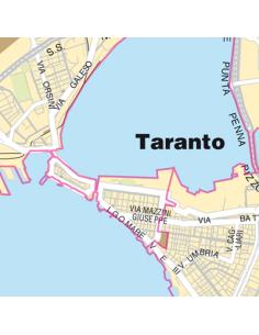 Mappa di Taranto jpg 1:100.000 con CAP