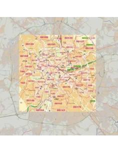 Mappa di Roma centro jpg 1:100.000 con CAP