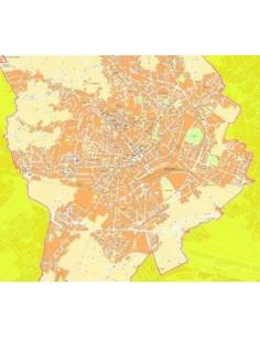Mappa di Bergamo jpg 1:10.000 con CAP