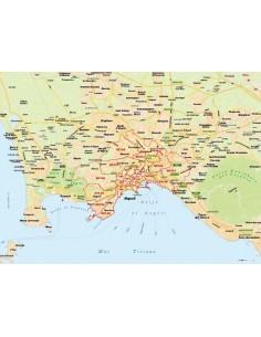 Mappa di Napoli jpg 1:100.000 con CAP