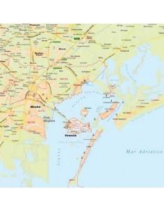 Mappa di Venezia jpg 1:100.000 con CAP