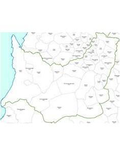 Mappa dei comuni e CAP della provincia di Medio Campidano jpg