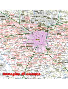 Carta stradale con CAP d'Italia scala 1:300.000 jpg