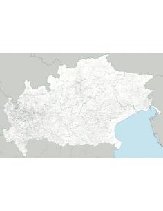 Mappa dei Comuni Lombardia-Triveneto MAGNETICA - 180 x 120 cm