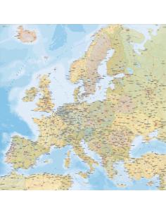 Mappa dell'Europa Stradale MAGNETICA 120x120 cm