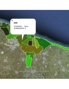 Mappa dei quartieri di Bari KML