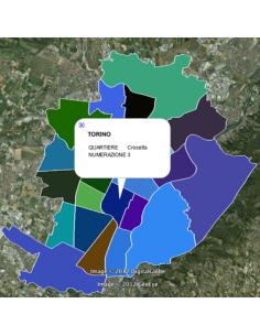 Mappa dei quartieri di Torino KML