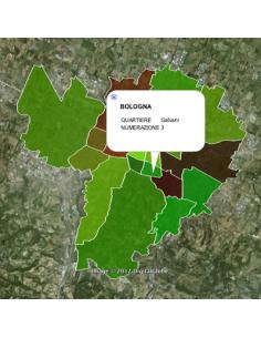 Mappa dei quartieri di Bologna KML