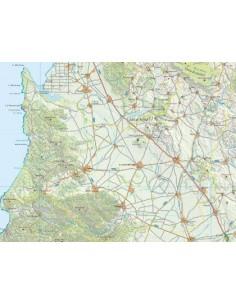 Mappa della provincia di Medio Campidano jpg scala 1:200.000