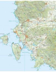 Mappa della provincia di Carbonia-Iglesias pdf scala 1:200.000