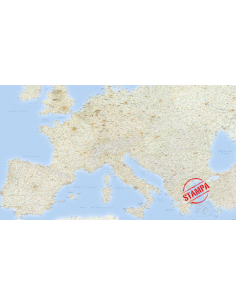 Mappa dell'Europa Stradale - PANNELLO 300x170 cm