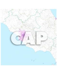 Mappa dei comuni e CAP del Lazio - PANNELLO 100 x 100 cm