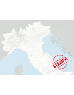 Mappa dei Comuni del Nord Italia - PANNELLO 200x270 cm
