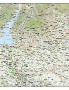 Mappa della Provincia di Verona - PANNELLO 100x120
