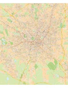 Mappa di Milano - PANNELLO 100x120 cm