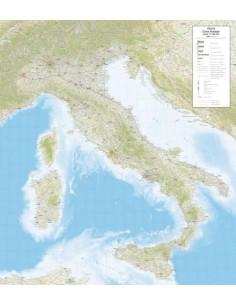 Mappa dell'Italia Stradale - PANNELLO 120x135 cm
