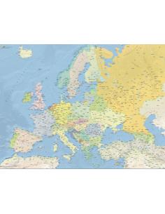 Mappa dell'Europa Fisica - PANNELLO 120x160 cm