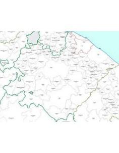 Mappa dei CAP della provincia di Pesaro Urbino jpg