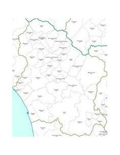 Mappa dei CAP della provincia di Lucca jpg