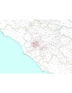 Mappa dei CAP della provincia di Roma jpg