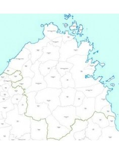 Mappa dei CAP della provincia di Olbia-Tempio jpg