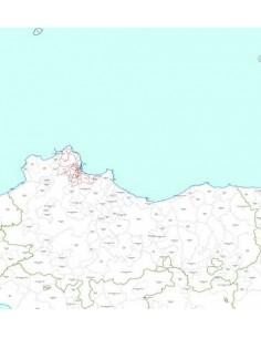 Mappa dei CAP della provincia di Palermo jpg