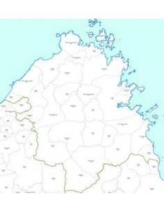 Mappa dei CAP della provincia di Olbia-Tempio pdf