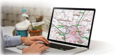 mappa stradale con CAP