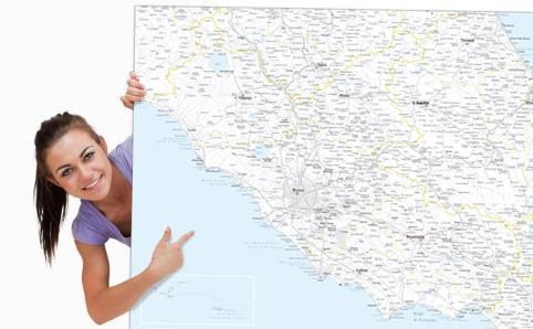 Mappa dei comuni italiani in pdf vettoriale